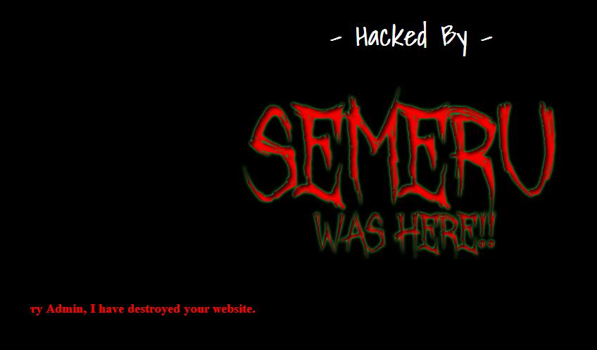Hacked by Semeru Was Here – joomla