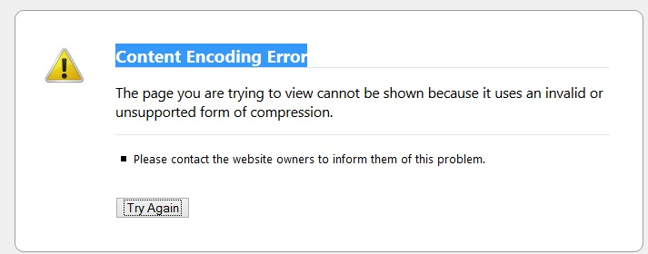 Content Encoding Error – joomla