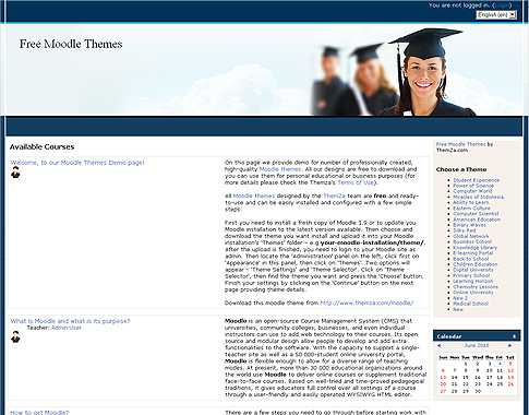 Online University – Moodle Template