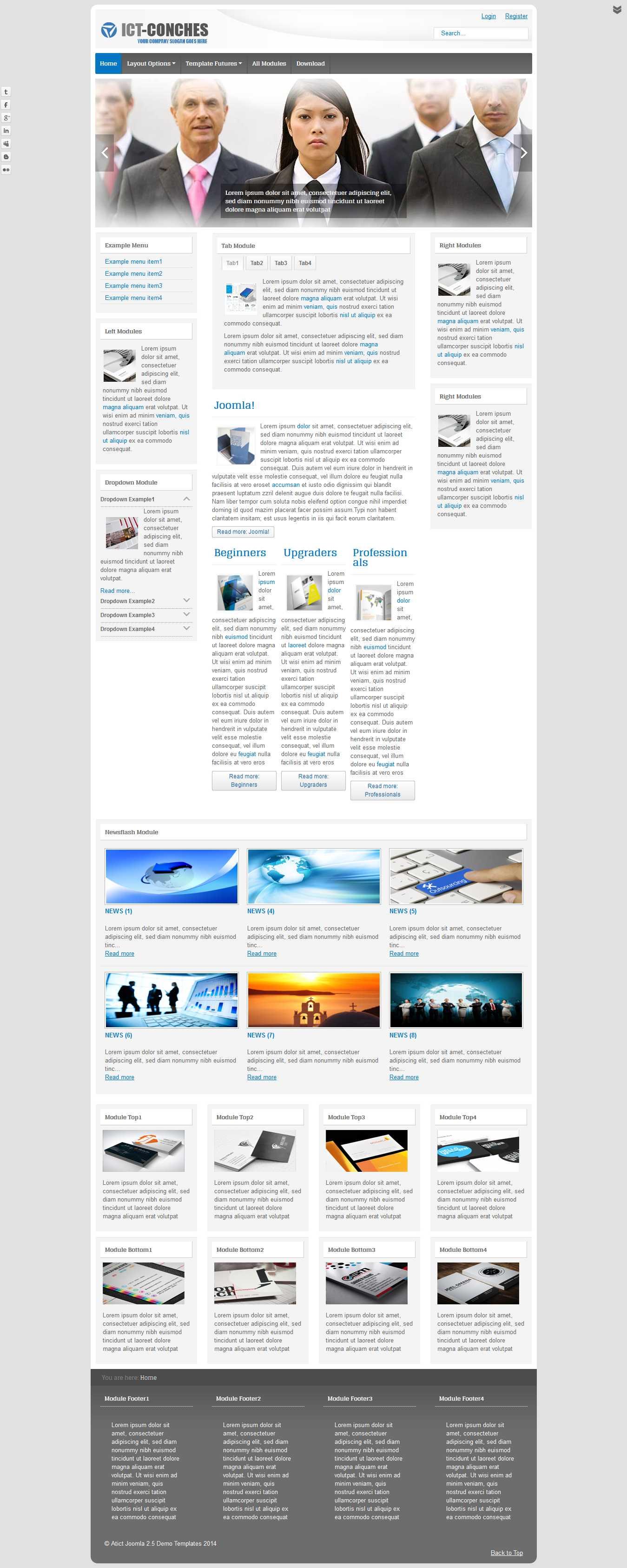 ICT Conches – Joomla template
