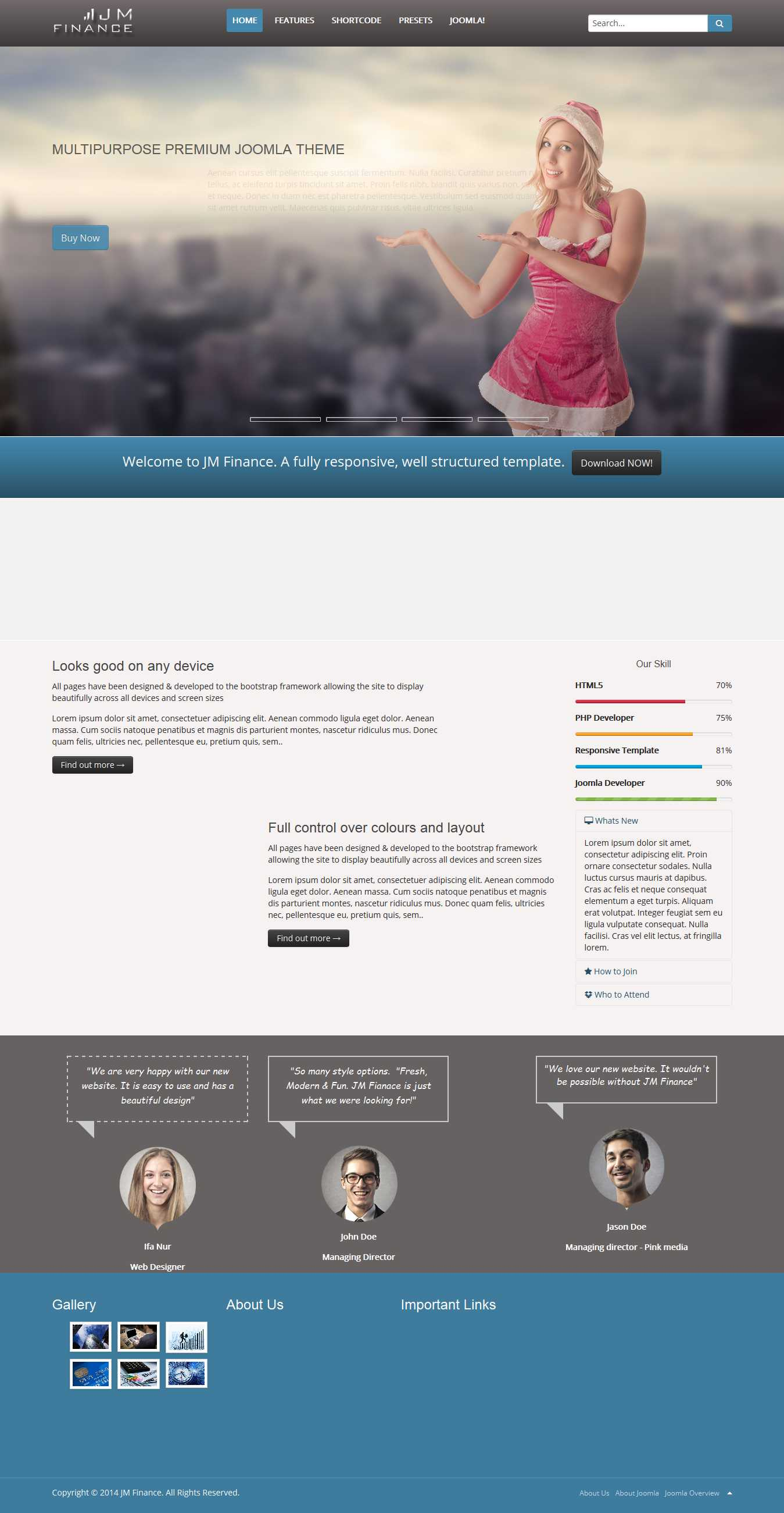 JM Finance – Joomla Template